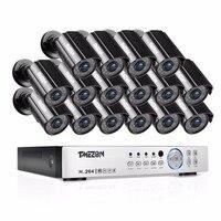 TMEZON 16CH CCTV System 16PCS 1080P Outdoor Weatherproof Security Camera 16CH 1080P DVR Night Vision Video Surveillance System