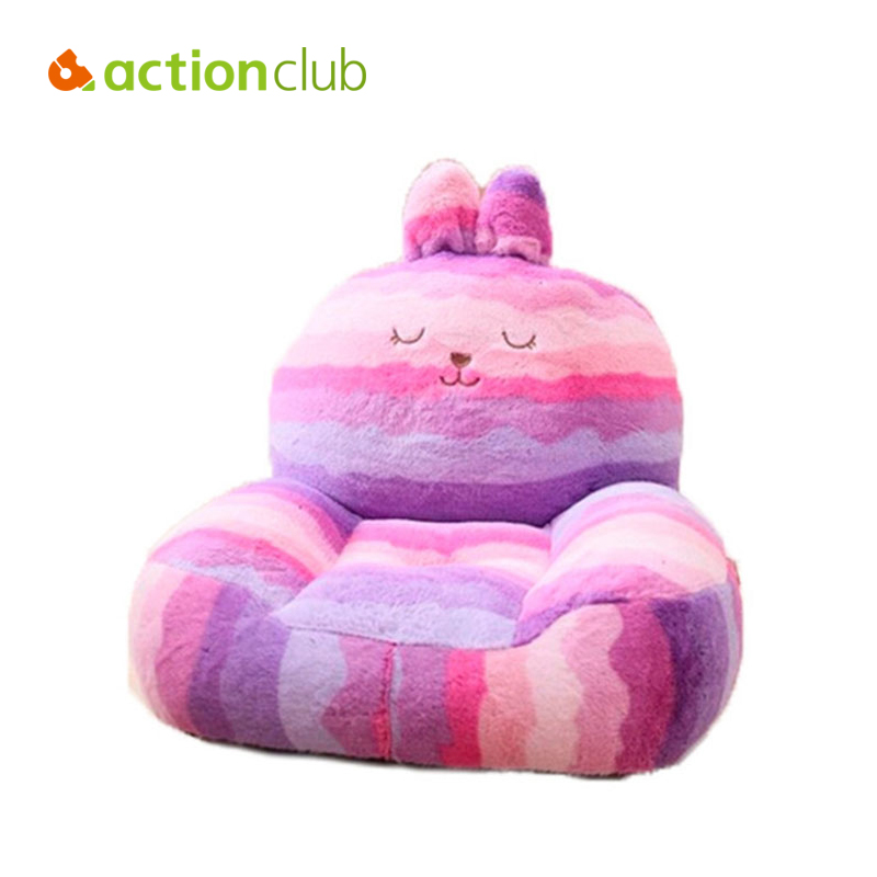 Actionclub High Quality 2015 Baby Chair&Seat Cartoon Sofa Kids Bean Bag Kawaii Rabbit Bear Elephant Plush Toys Furniture actionclub high quality waterproof inflatable baby chair for feeding bean bag bath seat kawaii bear monkey baby sofa 64 61 74cm