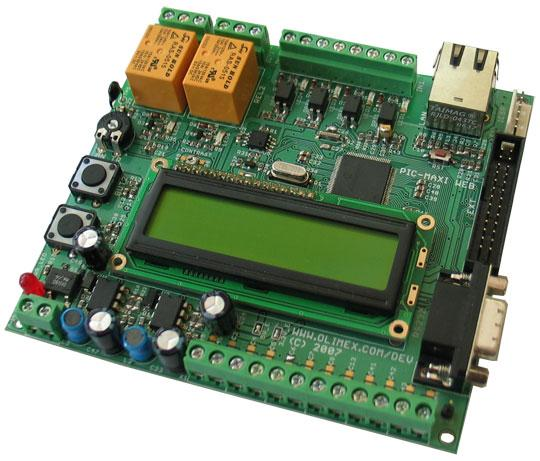 PIC-MAXI-WEB Development Board  TCP-IP DEV BRD FOR PIC18F97J60 Module