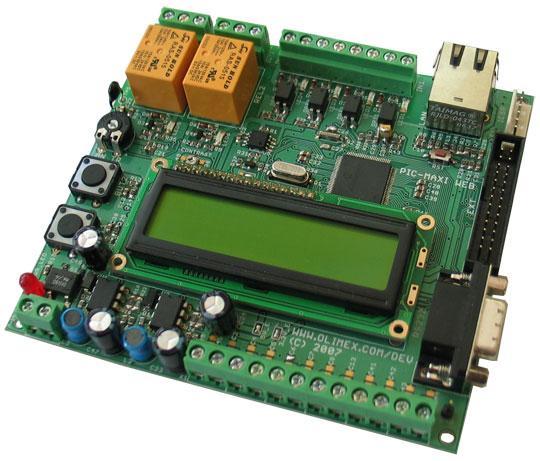 PIC-MAXI-WEB Development Board  TCP-IP DEV BRD FOR PIC18F97J60 Module