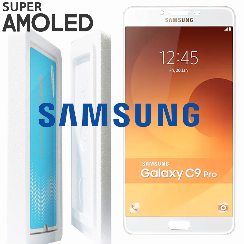 100 ORIGINAL 6 0 SUPER AMOLED LCD for SAMSUNG Galaxy C9 Pro C9000 Display Touch Screen