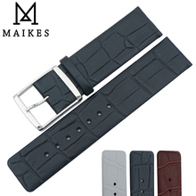 MAIKES New Arrival Genuine Leather Watch Band 16mm 18mm 20mm 22mm High Quality Brown Black Strap Case For CK