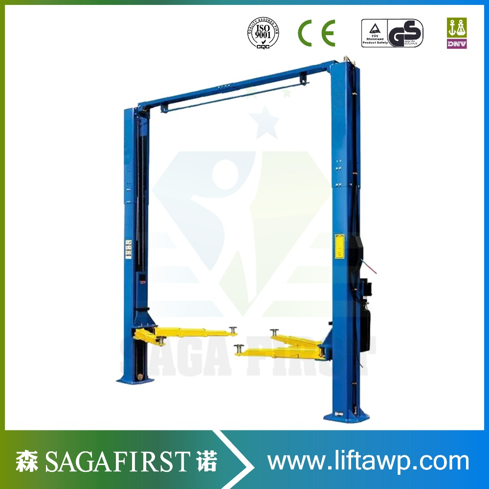 Heavy Duty Hydraulic Clear Floor Two Post Car Lifter