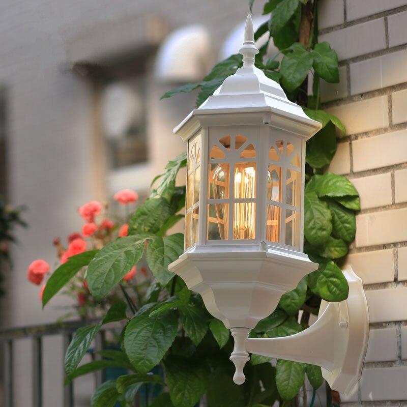 Style européen moderne applique extérieure éclairage applique étanche pour led extérieur ne comprend pas E27 ampoule