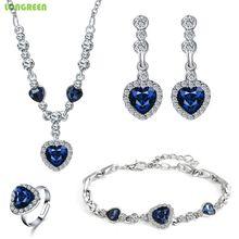 Wedding Bridal Jewelry Sets Dubai African Set Crystal Zirconia Necklace Bisuteria acero inoxidable joyeria mujer