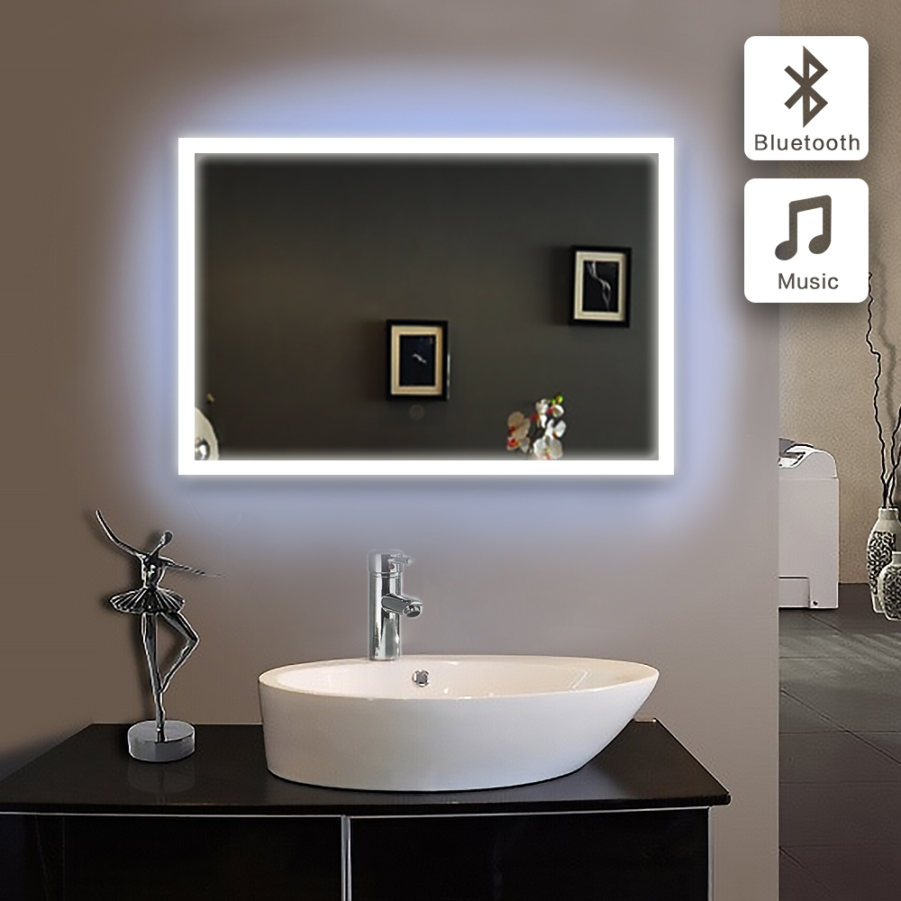 Badkamer 3x1 Us 1299 41 Bluetooth Illuminated Led Bath Mirror 90 240v70x100cm In Bathroom Piegel Badkamer Glass Mirror Bathroom Mirror Wall Ip44 E102b In Bath