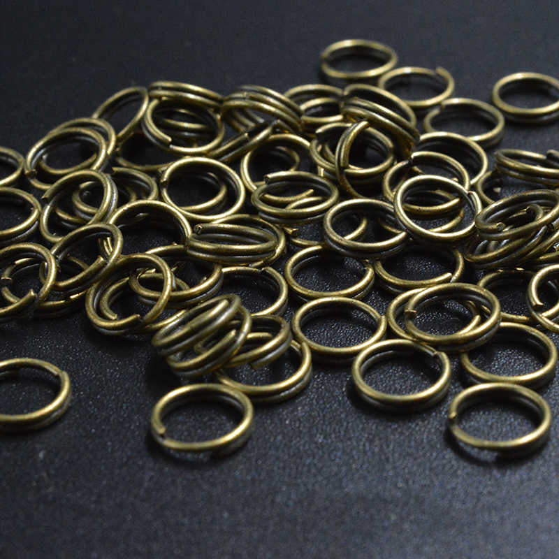 FLTMRH 50 sztuk 5mm kolor srebrny półfabrykaty do Split podwójne pętle otwarte Jump Ringelry ustalenia dla bransoletka Zrób To Sam naszyjnik ace złącze klucz łańcuchy