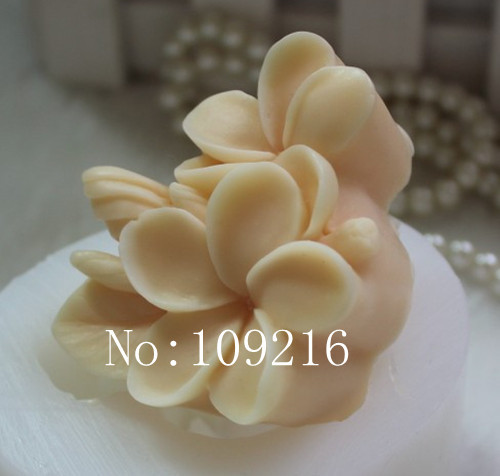 оптова !!! 1шт невеликий квітка (zx0122) силіконова мило прес-форм ручної роботи DIY цвіль
