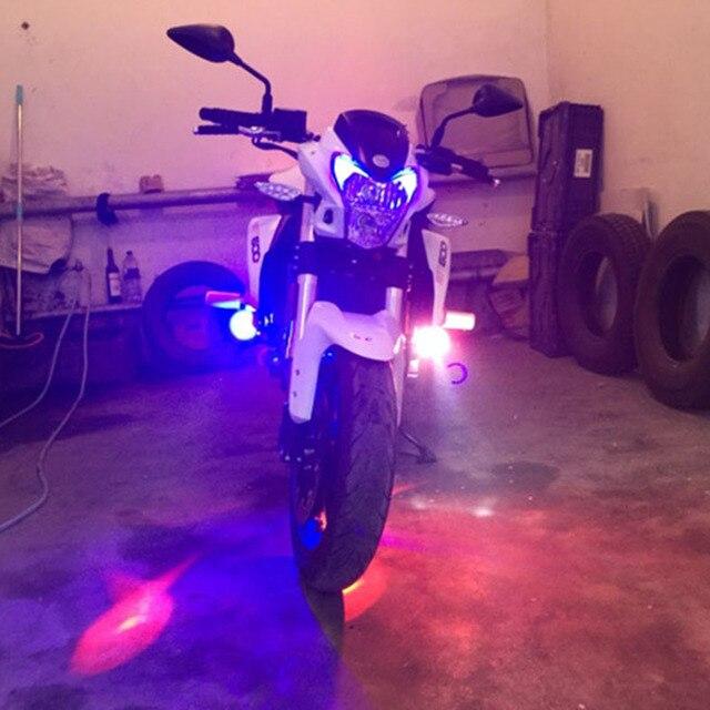 Faro de motocicleta 12v 125w, luces antiniebla de motor, lámpara de conducción auxiliar, foco de faro superbrillante, focos de moto a prueba de agua