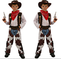 110-140cm Halloween Cosplay fashion  Clothing 4 pcs set  kid boy girl cowboy  Costume hero costume for boy birthday gift party