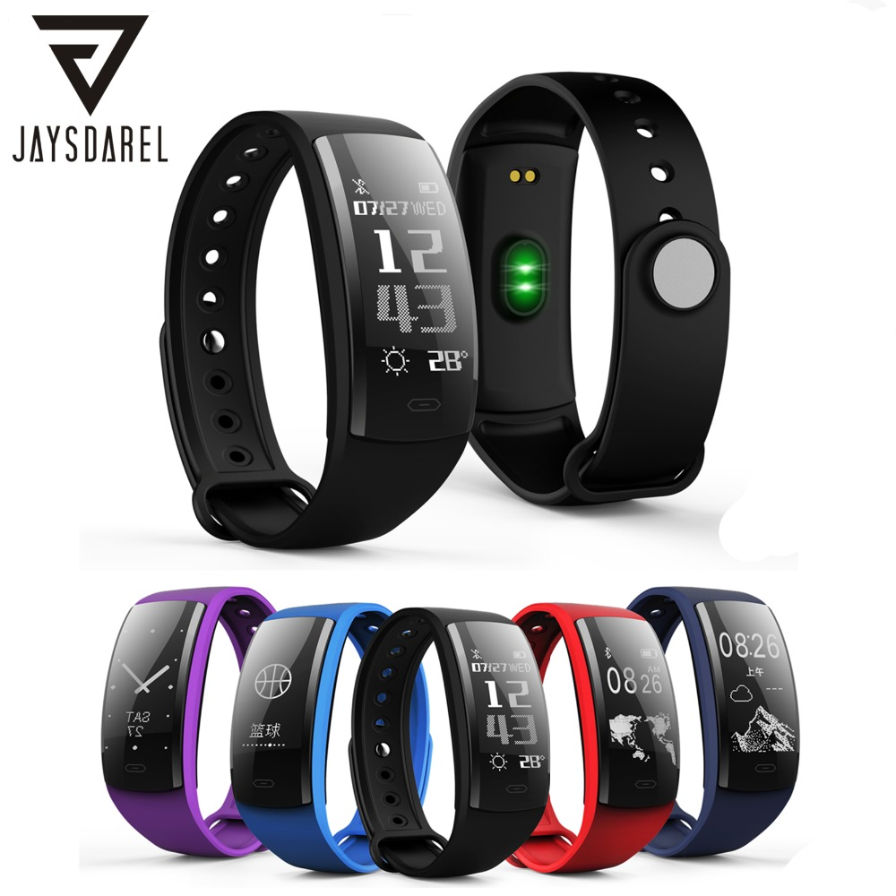 JAYSDAREL QS90 Blood Pressure Heart Rate Monitor Smart Watch OLED IP67 Waterproof Fitness Tracker Bracelet for Android iOS jaysdarel heart rate blood pressure monitor smart watch no 1 gs8 sim card sms call bluetooth smart wristwatch for android ios