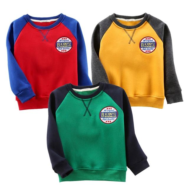 Cotton Kids T-Shirt Kid Clothing Boys Girls Clothe Long Sleeve T Shirts Kids Tops Children Pullovers Keep Warm Boy Girl Tops