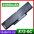 4400 mah batería del ordenador portátil para asus k73 k73s k73sv n71 n71j n71ja N71JQ N71JV N71V N71VG N71VN N71YI N73 N73F N73G N73J N73JF N73JG
