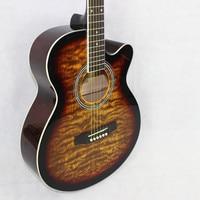 guitars 40 3 40 inch yellow flame maple Acoustic Guitar Rosewood Fingerboard guitarra with guitar strings