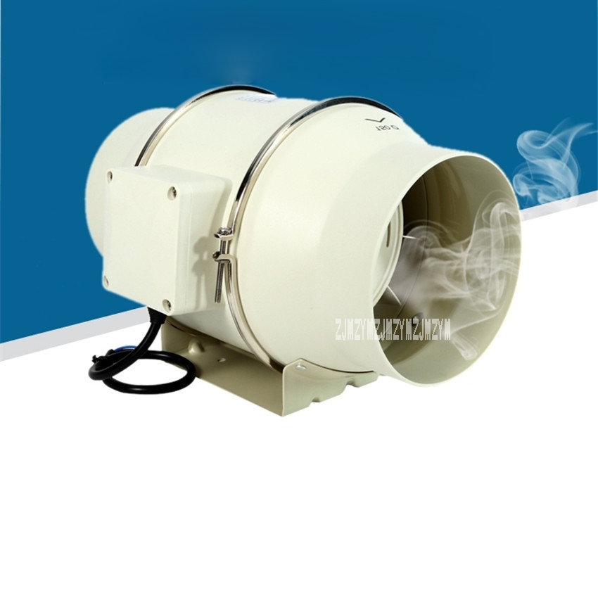 New Arrival TD-150E 6 Inch Mute bathroom Ventilation System Exhaust Air Mixed Flow Inline Ventilators Duct Fan Blower 220v/50HZ цена