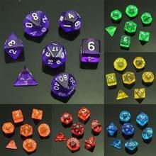 1 комплект из 7 кубика D4 D6 D8 D10 D12 D20 для игры в кости Настольная игра