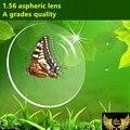 1.56 revestimento verde lentes de prescrição miopia presbiopia asférica anti scrach proteção uv400 lente cr39 óculos de qualidade fina