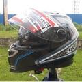 Бесплатная доставка SHOEI мотоциклетный шлем полный шлем Мотоциклетный Шлем ATV шлем Безопасности с двумя объективами СИНИЙ