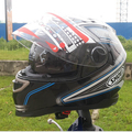 Free shipping SHOEI motorcycle helmet full helmet Motorcycle Helmet ATV helmet Safety dual lens BLUE