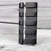 알루미늄 합금 경량 휴대용 11 ~ 20mm 트랙/11mm ~ 22mm dovetail leather martini/weaver rail adapter