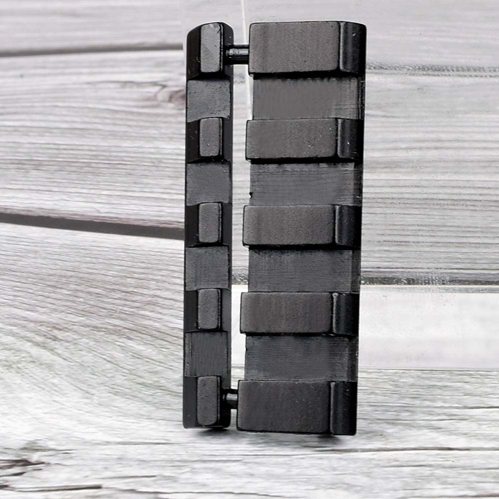 Aluminum Alloy Lightweight Portable 11 To 20mm Track / 11mm To 22mm Dovetail Leather Martini / Weaver Rail Adapter