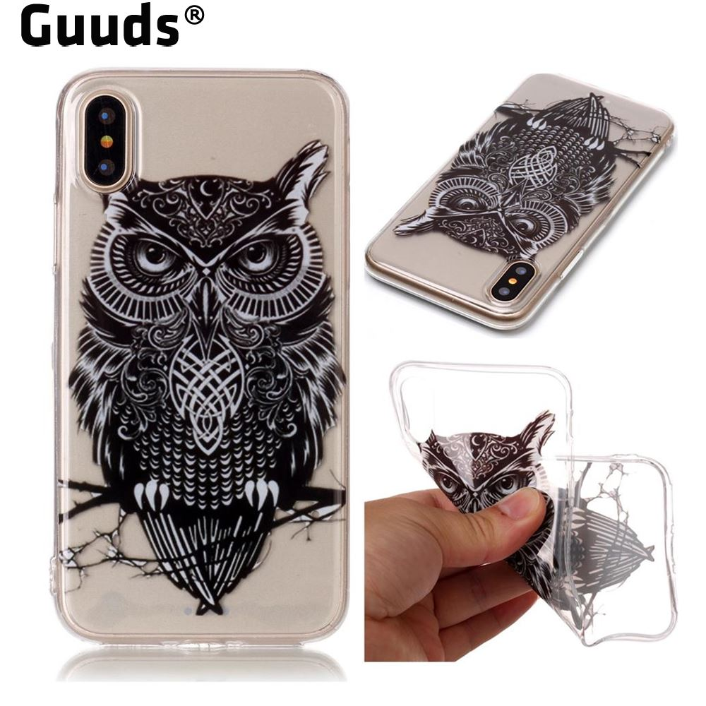 GUUDS for iPhoneX 10 Ten Coque Phone Shell Case Super Clear Soft TPU Back Cover for iPhone X(5.8 inch) FREE SHIPPING