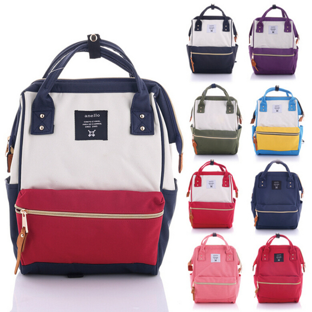 Anello Canvas Backpack Famous Brand Bag Preppy Style Teenager School Bags Large Capacity Student Bookbag Mochilas Mujer 2016