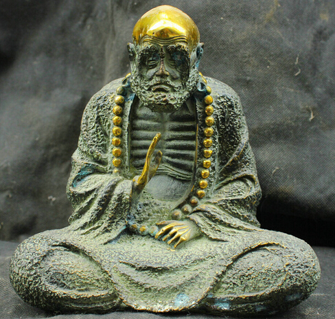 Free Shipping Chinese Fengshui Old Antique Bronze Brass Statue Bodhidharma Buddha  Sculpture In Statues U0026 Sculptures From Home U0026 Garden On Aliexpress.com ...