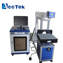 Co2 laser glass tube marking machine with aluminum alloy up-down table