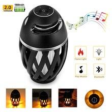 Bluetooth Wireless Speaker,LED Flame Light Speaker,Portable Loudspeaker Outdoor Player with LED  Flame Torch Light Flicker Light