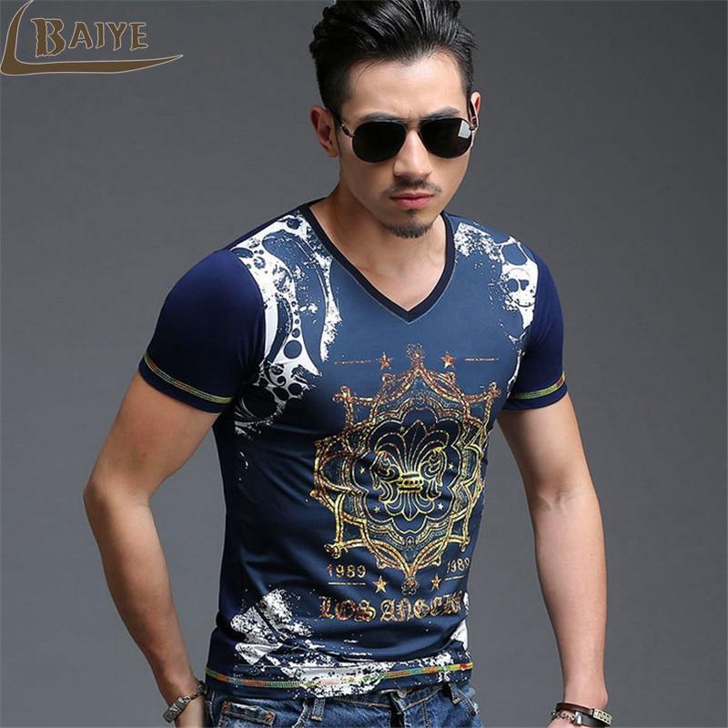 Tbaiye 2017 new fashion men casual t shirt men short for New fashion t shirt man