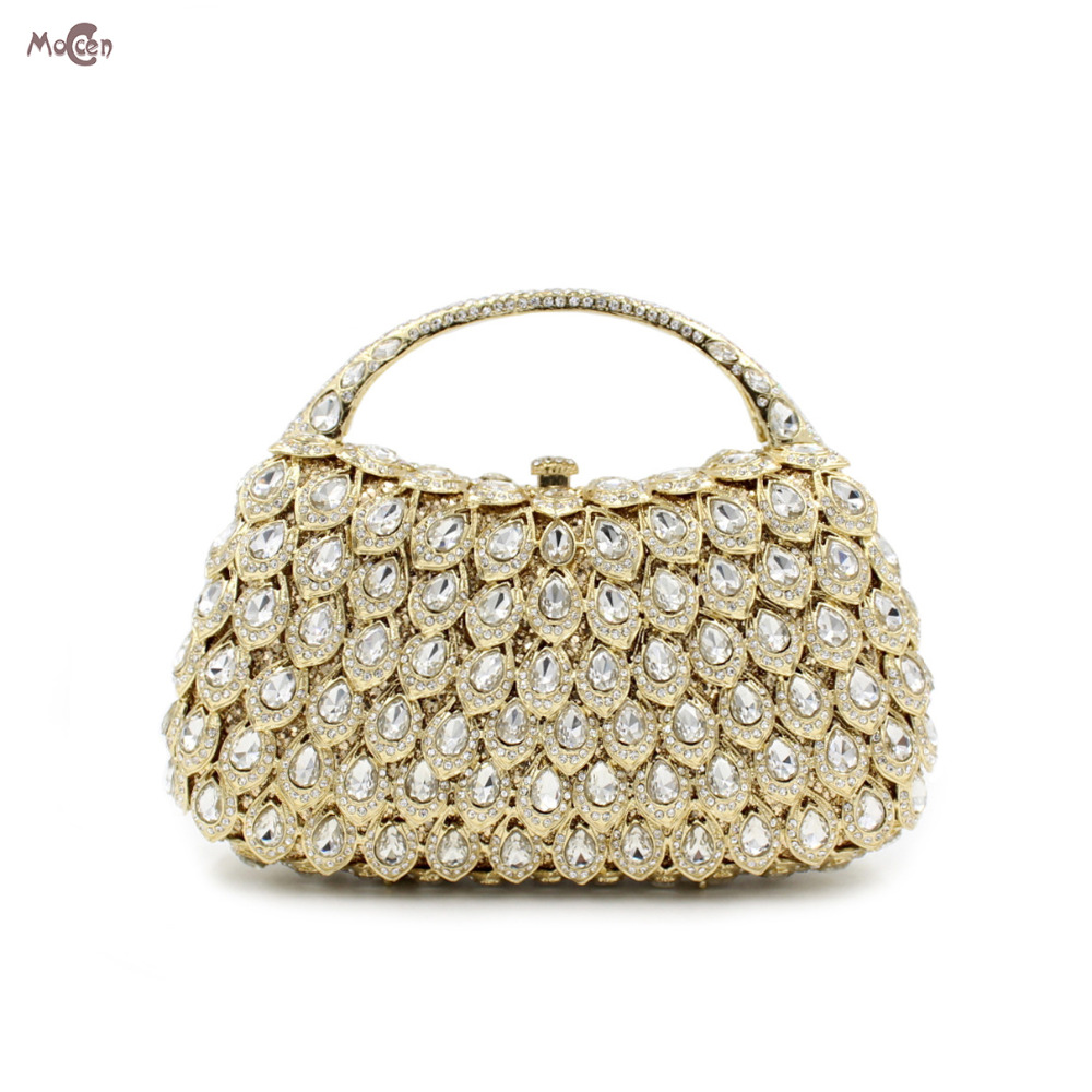 Moccen Lady Chain Evening Clutch Bag Women Handbags Beaded Evening Bags Luxury Diamonds Purses And Handbags Party Shoulder Bags new sequin clutch bag finger ring evening bag hard box clutch chain sshoulder bag crossbody bags for women purses and handbags