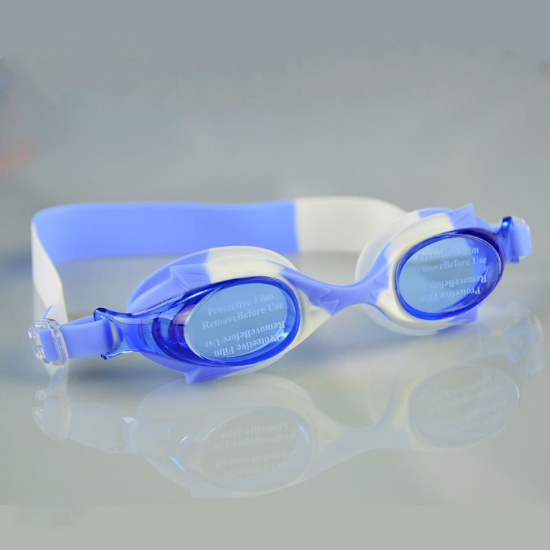 swimming goggles silicone gel pvc plastic submersible underwater swimming glasses for kids boy girl junior G0210 ...