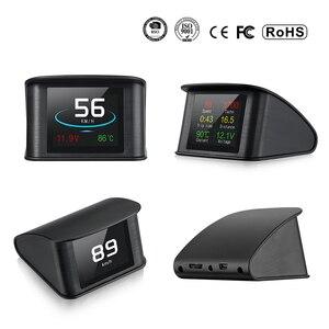 Image 4 - OBD2 HUD T600 Head up display per auto GPS Per Auto Velocità Del Proiettore Tachimetro Consumo Combustibile Temperatura P10 Sistema di Allarme di Velocità Eccessiva