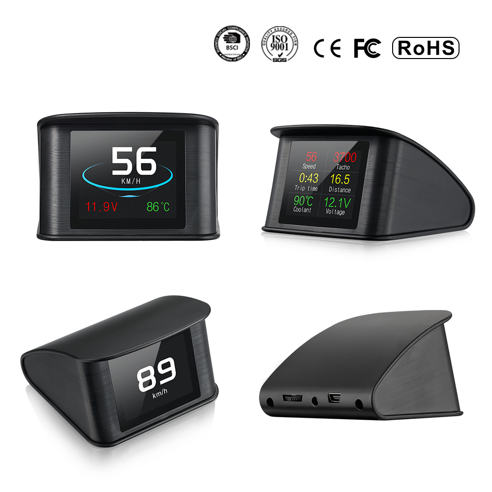 Image 4 - OBDHUD T600 GPS Car Speed Projector Digital Speedometer Fuel Consumption Temperature P10 Gauge Diagnostic Tool  Free Shipping-in Head-up Display from Automobiles & Motorcycles