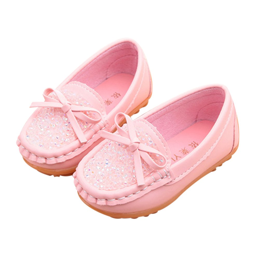 New Summer Autumn Children Shoes Soft Leather Shoes For Girls Kids Lightweight Slip On Flat Casual Bowknot Peas Shoes Sneakers