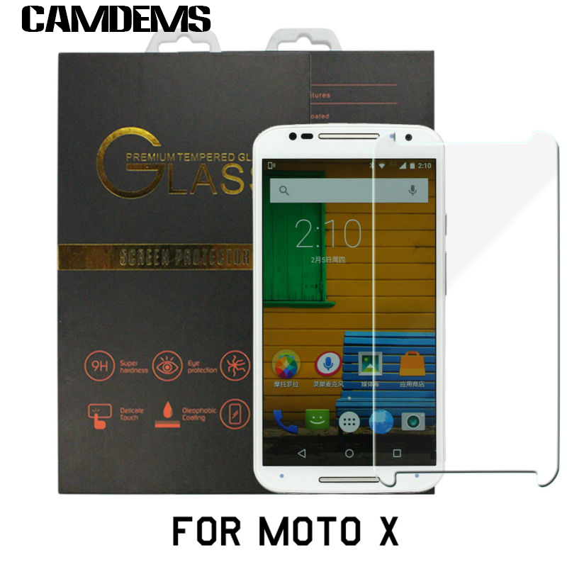 With Retail Box 100pcs/lot Anti-Scratch Premium Tempered Glass Screen Protector Film For Motorola Moto G/G2/G3/X/X2/E /E2 /Xplay