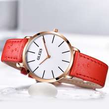 Brand Luxury Quartz Women's Watches Business Casual Black Japan Quartzwatch Genuine Leather ultrathin Clock New 30m Waterproof