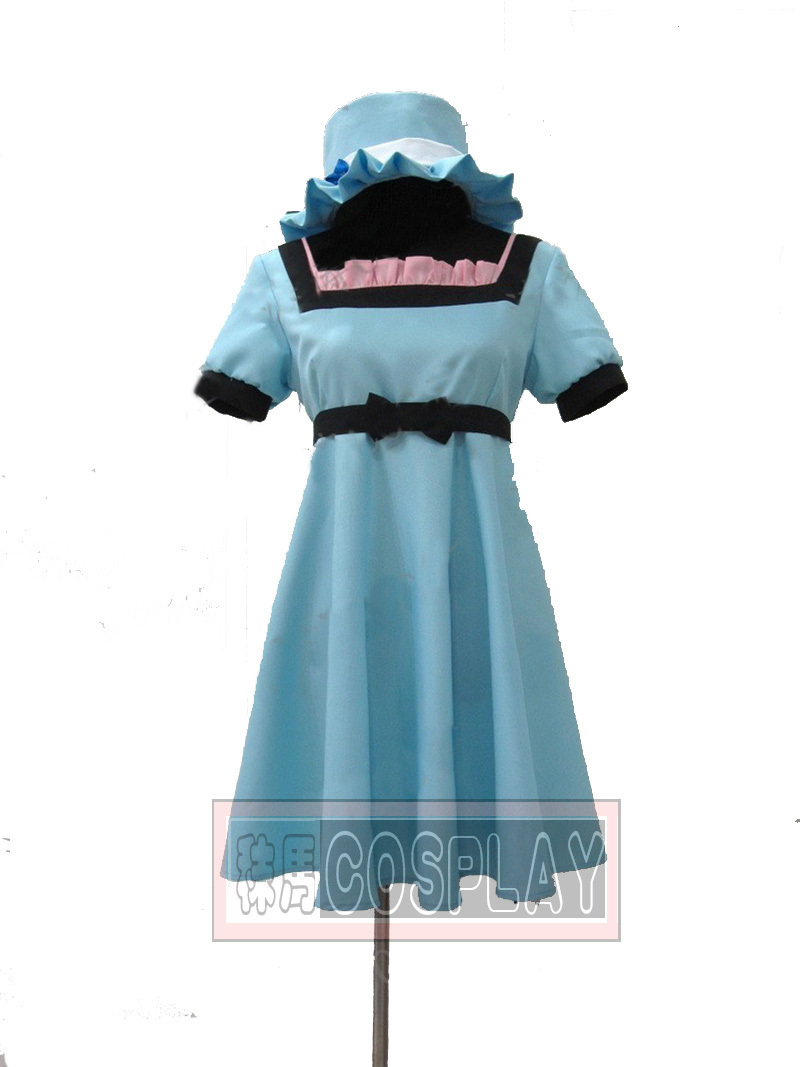 Steins Gate Mayuri Shiina dress+hat Cosplay Costume Custom-made Any Size