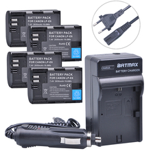 4Pcs 2650mAh LP E6 LP E6 E6N Battery AC Car Charger kits for Canon DSLR EOS