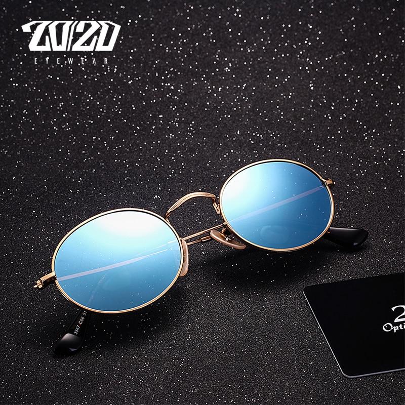 20/20 Brand Classic Polarized Solglasögon Män Kvinnor märkesdesigner Vintage Eyewear Oval Driving Unisex Sun Glasses