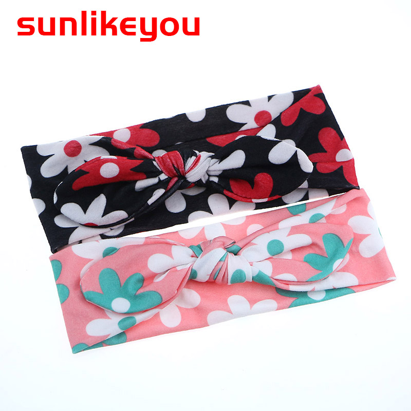 Sunlikeyou Baby Girls Hairbands Toddler Bowknot Headwear Kids Newborn Turban Bows Knot Headband Hair Accessories