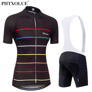Phtxolue Team Women Cycling Clothing 2018 Black Breathable Bike Bicycle Suit Wear Clothes Short Sleeve Jerseys Ropa Ciclismo