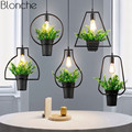 Современные подвесные светильники для растений  скандинавские подвесные лампы для домашнего декора  столовой/магазина одежды  светильники...