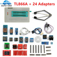 New Original TL866A Universal Minipro Programmer 24 Adapters Test Clip 1 8V Adapter TL866 AVR PIC