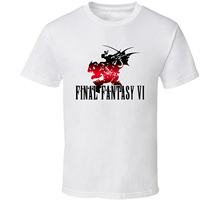 GILDAN T-shirt Novelty Cool Tops Men's Short Sleeve Tshirt Final Fantasy Vi Retro Video Game T Shirt