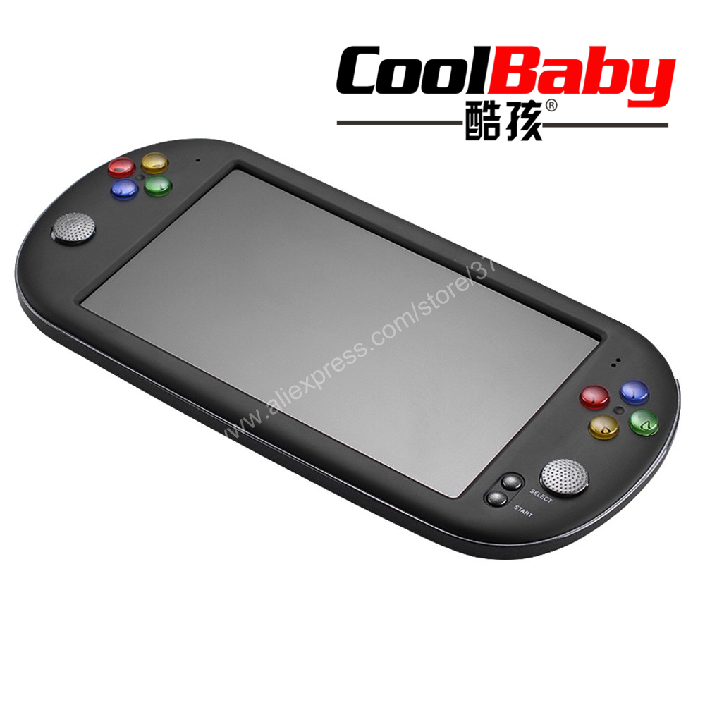 COOLBABY 7 inch Portable Game Console Handheld with 1500 retro mini games for neogeo arcade video game for snes 16 bit console