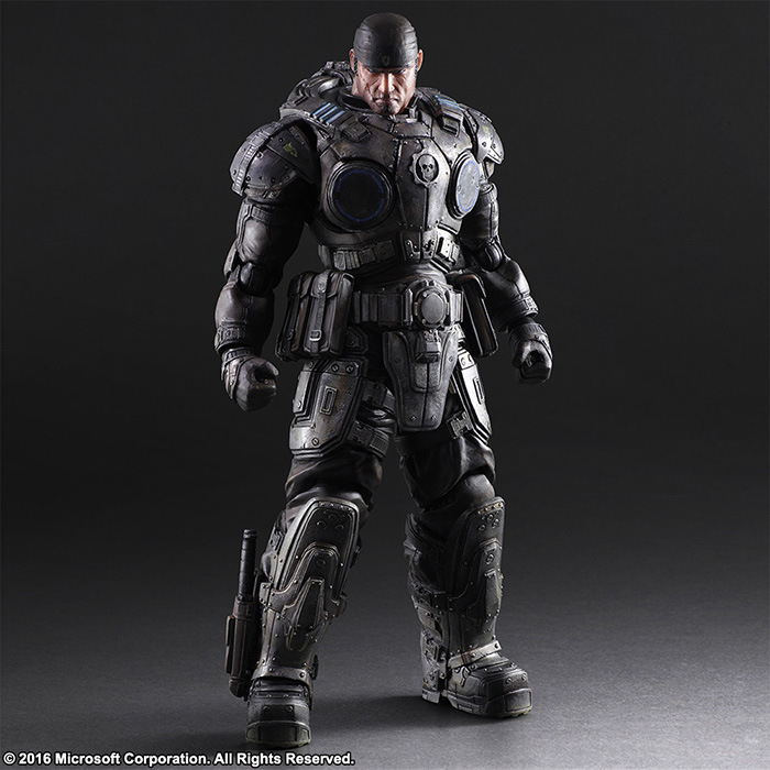Gears of War 3 Play Arts Kai Marcos 260mm PVC Action Figures Model Toy Anime Playarts Kai Gears of War
