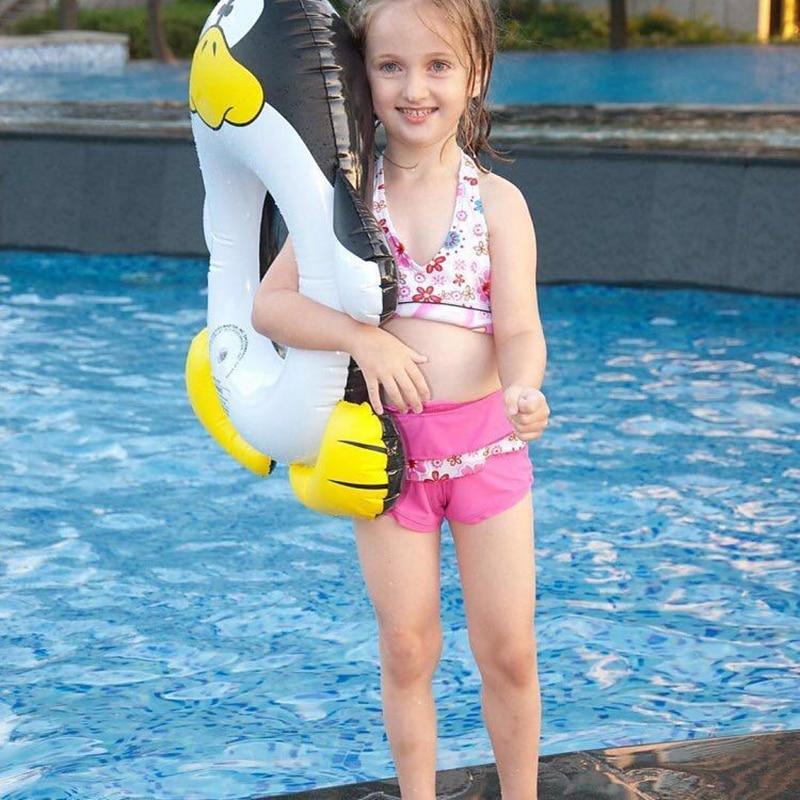 Diameter 50cm Small Inflatable Penguin Swim Ring for Kids Summer Water Toys Tube