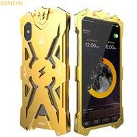 ZIMON Top Metal Aluminum Case For IPone X 10 Luxury Iron Body Tough Armor THOR IRON